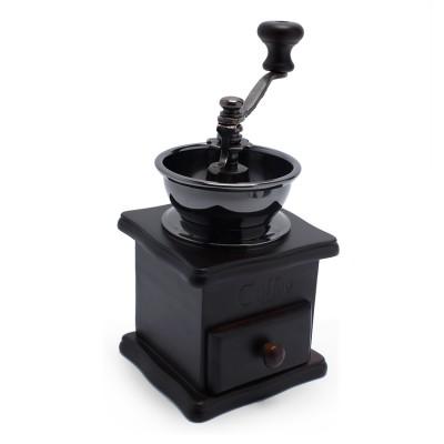 Cối xay cà phê cổ điển thân gỗ màu đen AnniCoffee