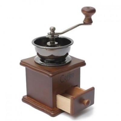 Cối xay cà phê  cổ điển thân gỗ màu nâu AnniCoffee