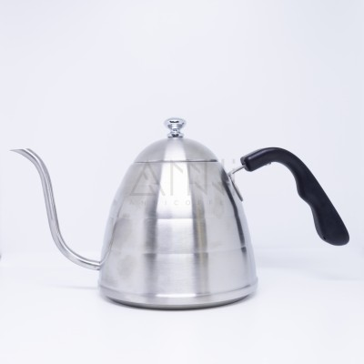 Ấm pha cà phê inox 1 lít ( nắp dẹt )
