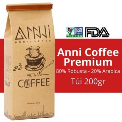 200GR Cà phê Premium ANNI COFFEE Dạng bột Buôn Mê Thuột - Lâm Đồng - Chuẩn gu cà phê Việt phù hợp pha phin pha máy