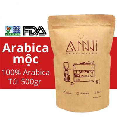 Cà phê Arabica Mộc Cầu Đất (Bột/Hạt) ANNI COFFEE [500gram/bịch]