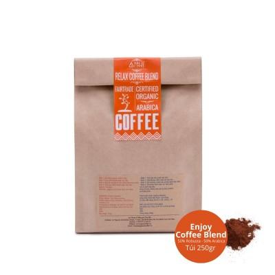 Cafe rang xay nguyên chất Buôn Mê Thuột - Lâm Đồng ANNI COFFEE (250gr) - thích hợp pha Cafe Espresso, Latte, Capuchino