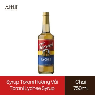 Syrup Torani Chai thủy tinh Hương Vải (750ml) - Nhập khẩu Mỹ - Torani Lychee Syrup, Siro Vải - pha chế trà, trà sữa