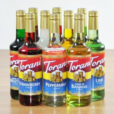 Syrup Torani Chai thủy tinh Hương Hạt Dẻ (750ml) - Nhập khẩu Mỹ - Torani Hazelnut Syrup, Siro Hạt Dẻ - pha chế trà, soda