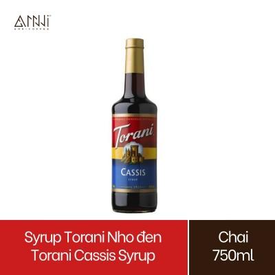 Syrup Torani Chai thủy tinh Hương Nho đen (750ml) - Nhập khẩu Mỹ - Torani Cassis Syrup, Siro Nho đen - pha chế trà, soda