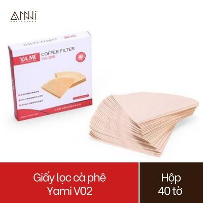 Giấy lọc cà phê Yami Paper Filter V02 Hộp 40 tờ - Giấy Lọc Cafe Yami - pha được 2-4 ly cà phê
