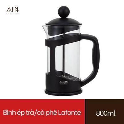 Bình ép pha trà và cafe La Fonte (800ml) Thủy tinh cao cấp - Bình pha cà phê kiểu Pháp - pha cà phê, pha trà, pha nước