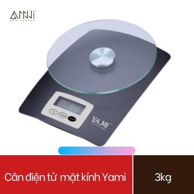 Cân điện tử Yami Mặt kính (3KG) - Cân đa năng, cân định lượng, cân tiểu li mini